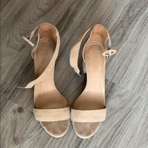 Madewell The Regina Ankle-Strap Sandal Suede
